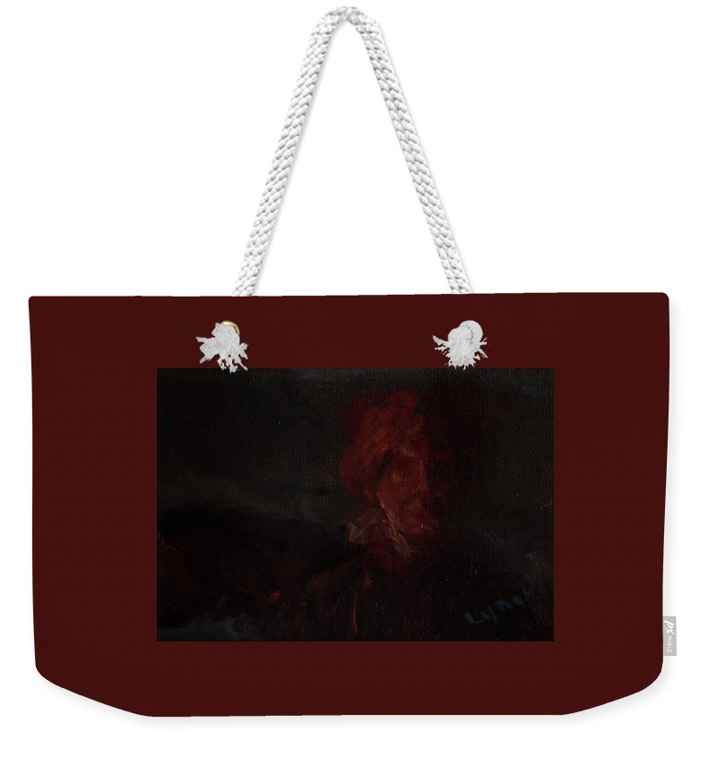 Portrait Weekender Tote Bag featuring the painting Blown by Lynne Guess