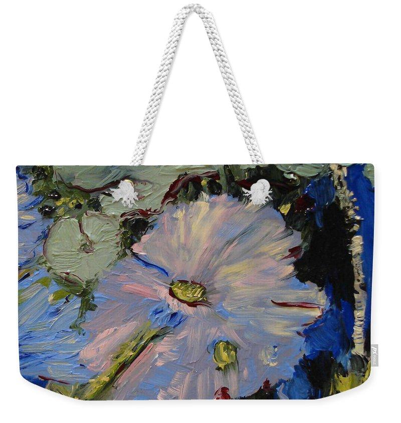 Water Weekender Tote Bag featuring the painting Blu II by Barbara Andolsek