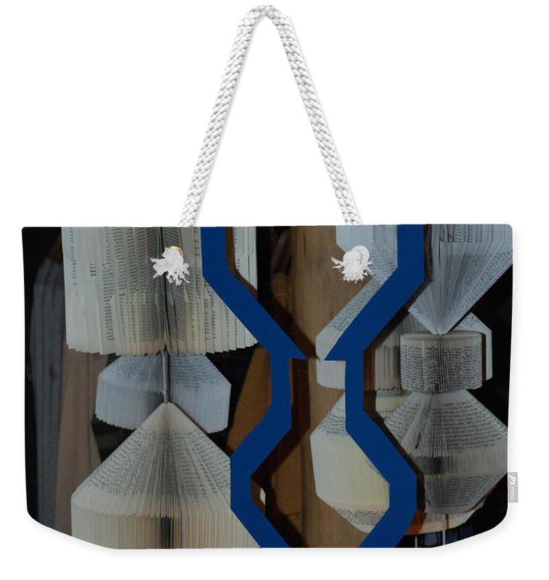 Window Weekender Tote Bag featuring the photograph Blue And White by Rob Hans