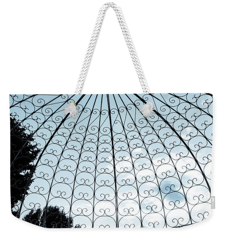 Blue Weekender Tote Bag featuring the photograph Blue Arbor by Marilyn Hunt