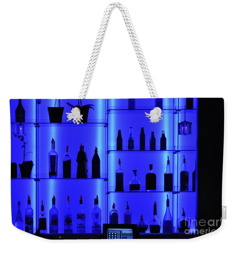 Clay Weekender Tote Bag featuring the photograph Blue Bar by Clayton Bruster