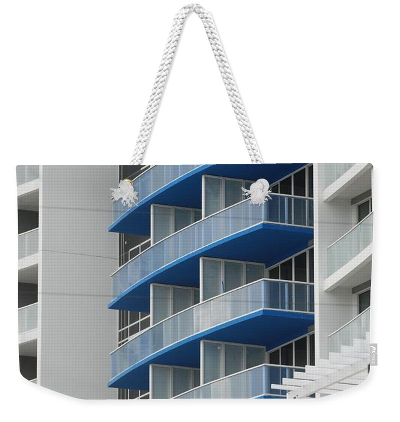 Architecture Weekender Tote Bag featuring the photograph Blue Bayu by Rob Hans