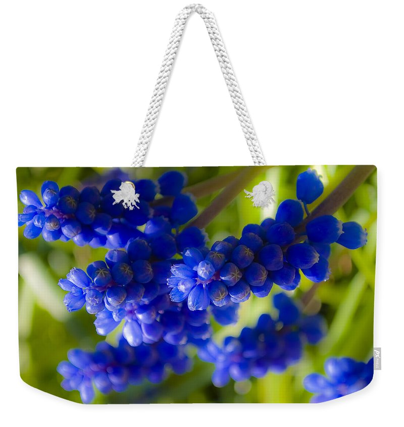 Flower Weekender Tote Bag featuring the photograph Blue Bell by Svetlana Sewell