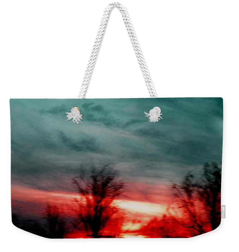 Landscape Weekender Tote Bag featuring the photograph The Memory Remains by M Pace