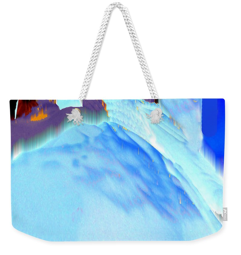 Baby Weekender Tote Bag featuring the photograph Blue Blanket by Seth Weaver