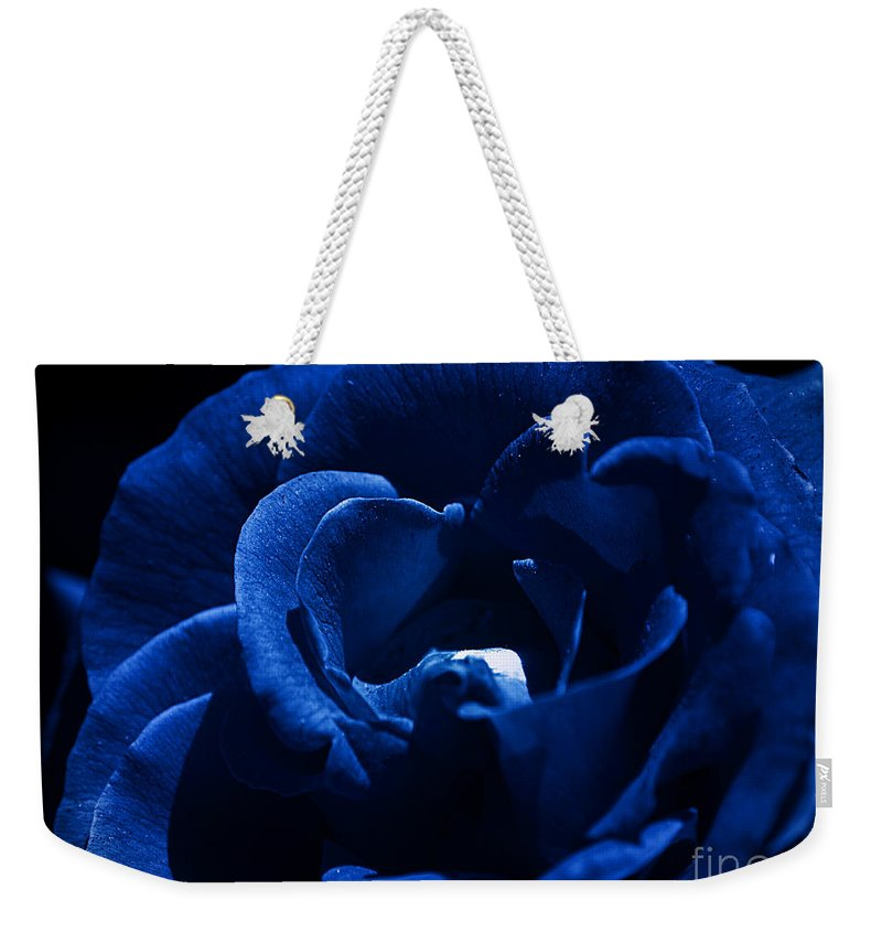 Clay Weekender Tote Bag featuring the photograph Blue Blue Rose by Clayton Bruster