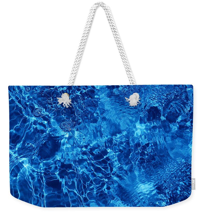 Water Weekender Tote Bag featuring the photograph Blue Blue Water by Jill Reger