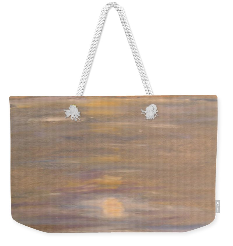 Boat Weekender Tote Bag featuring the painting Blue Boat by Patricia Caldwell