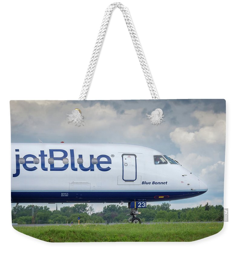 Aviation Weekender Tote Bag featuring the photograph Blue Bonnet by Guy Whiteley