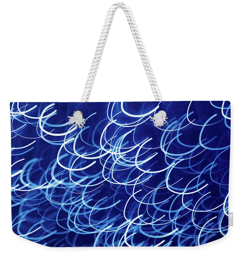 Abstract Weekender Tote Bag featuring the photograph Blue Breasts by Mike Penney