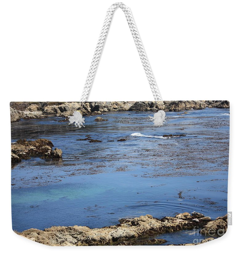 California Weekender Tote Bag featuring the photograph Blue California Bay by Carol Groenen