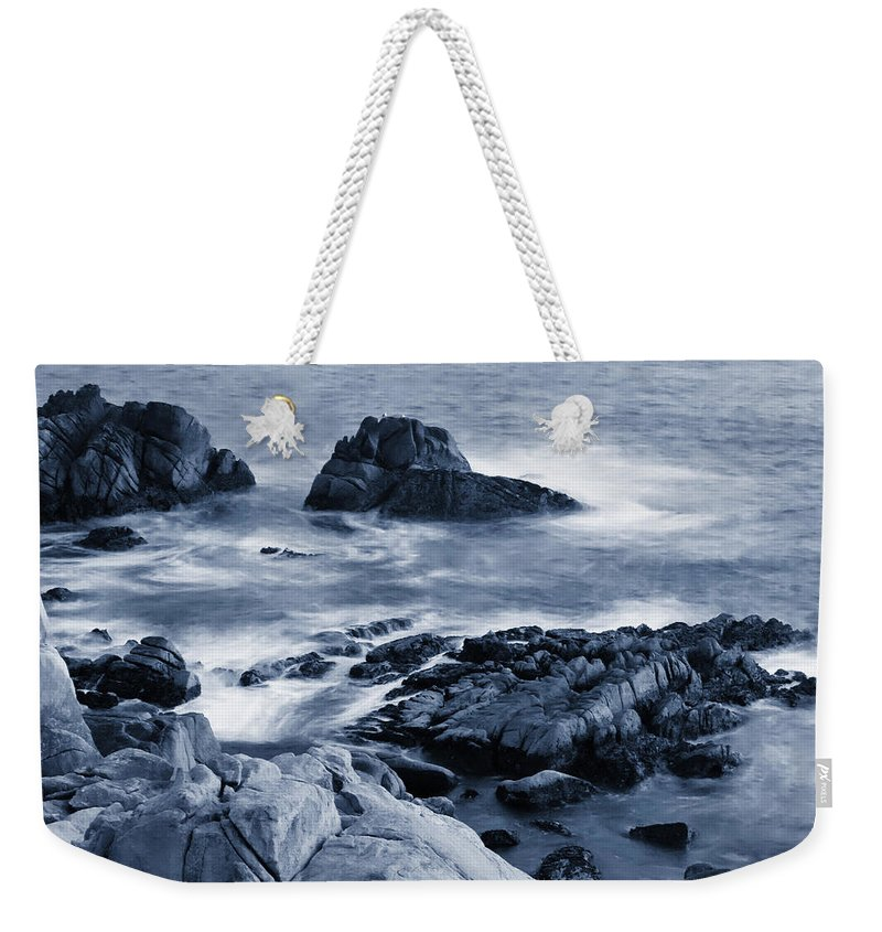 Carmel Weekender Tote Bag featuring the photograph Blue Carmel by Renee Hong