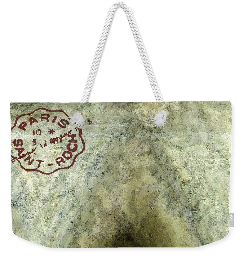 Blue Cheese Weekender Tote Bag featuring the painting Blue Cheese Wheel by RC DeWinter