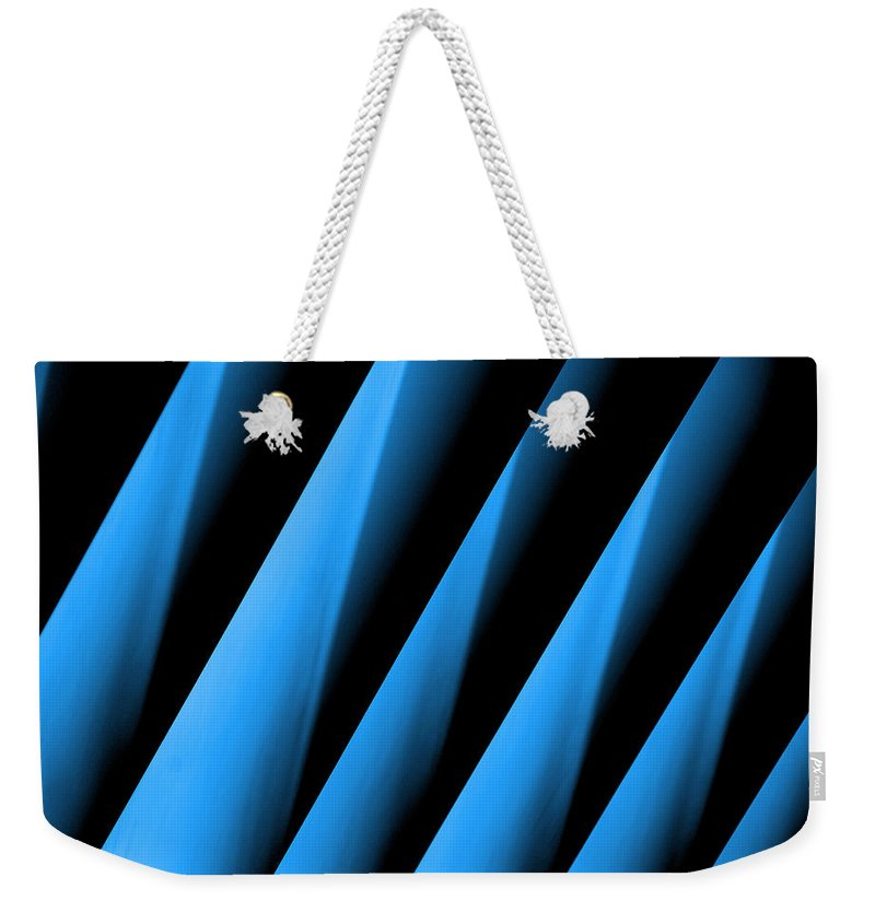 Blue Directions Weekender Tote Bag featuring the photograph Blue Directions by Susanne Van Hulst