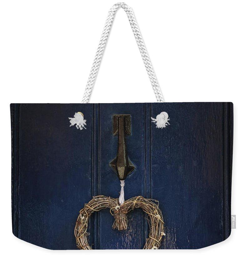 Door Weekender Tote Bag featuring the photograph Blue Door by Joana Kruse