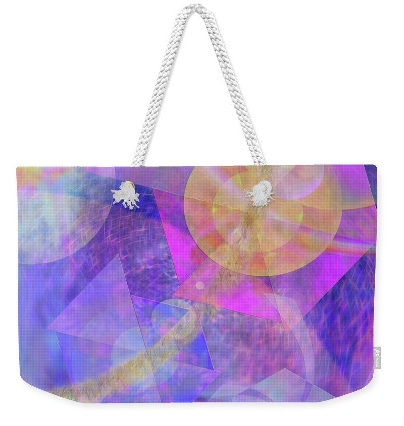 Blue Expectations Weekender Tote Bag featuring the digital art Blue Expectations by John Beck