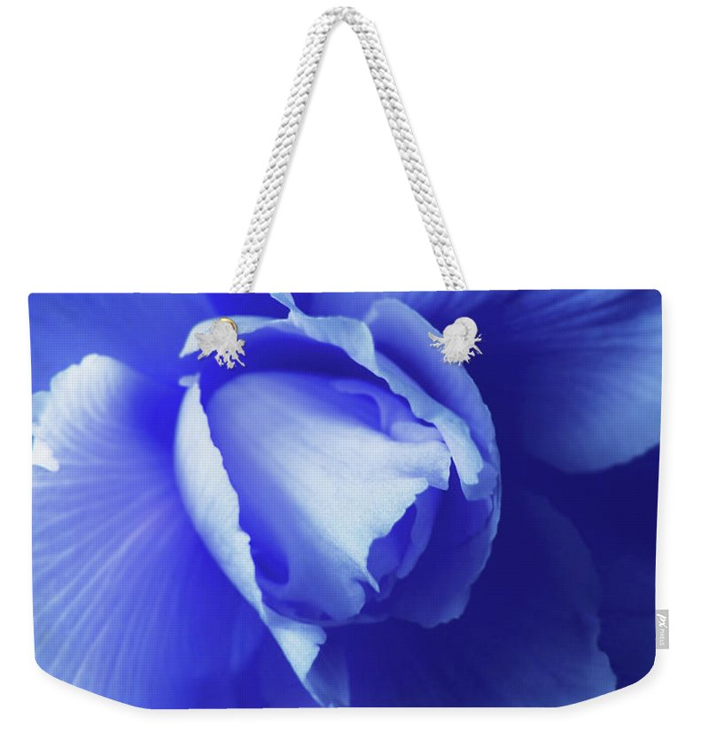 Begonia Weekender Tote Bag featuring the photograph Blue Floral Begonia by Jennie Marie Schell