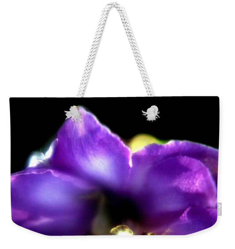Flower Weekender Tote Bag featuring the photograph Blue Flower by Lee Santa