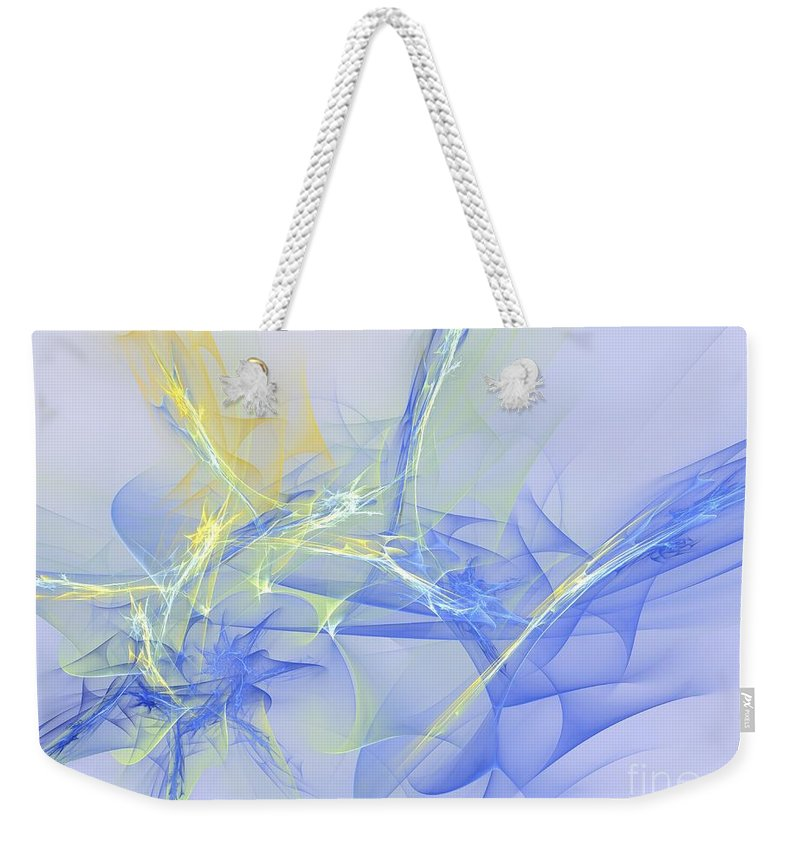 Apophysis Weekender Tote Bag featuring the digital art Blue For You by Deborah Benoit