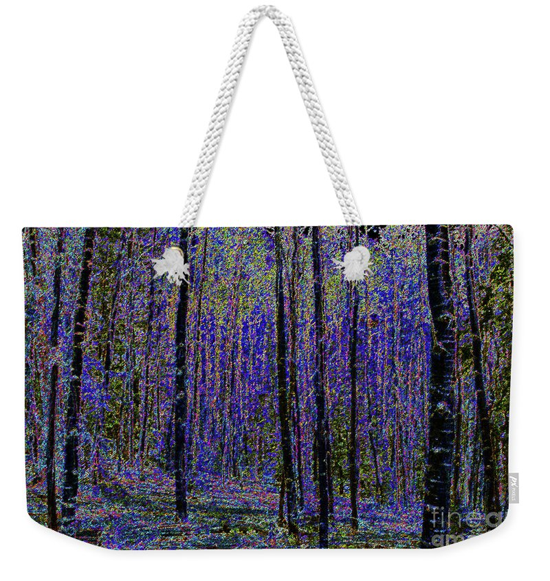 Art Weekender Tote Bag featuring the painting Blue Forest by David Lee Thompson
