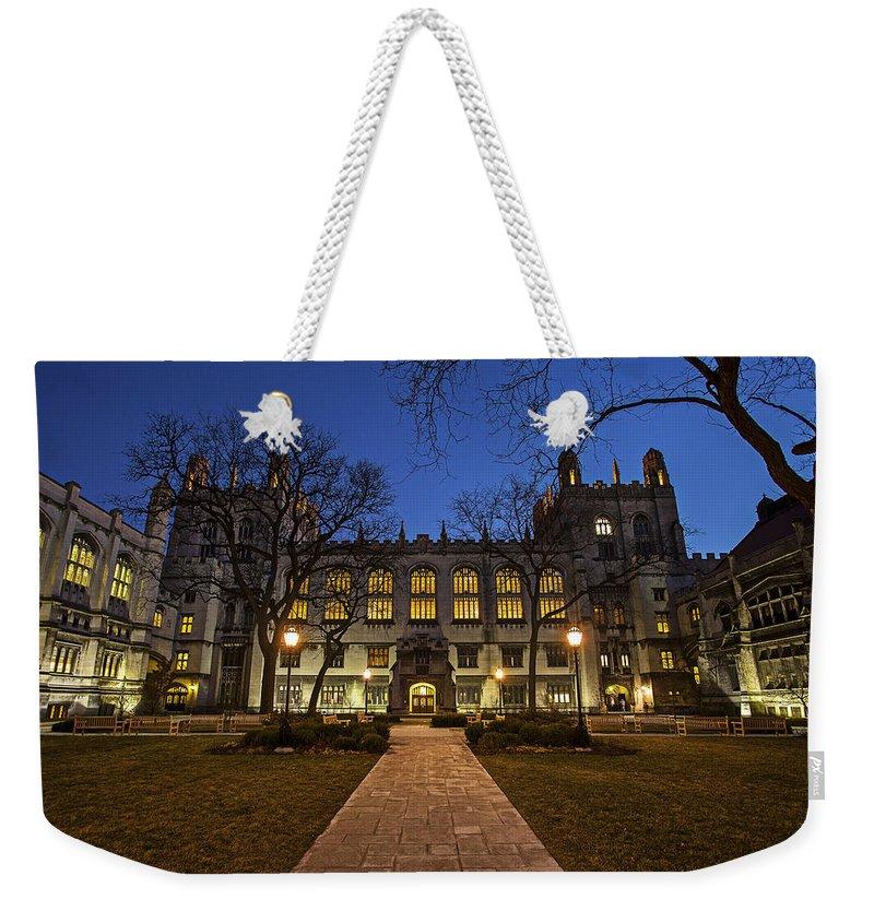 Cj Schmit Weekender Tote Bag featuring the photograph Blue Hour Harper by CJ Schmit