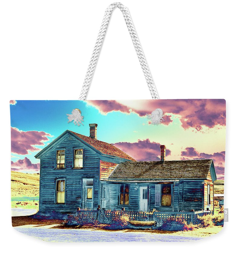 Bodie Weekender Tote Bag featuring the photograph Blue House by Jim And Emily Bush