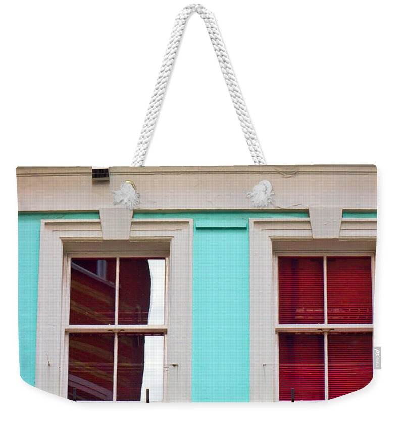 Address Weekender Tote Bag featuring the photograph Blue House by Tom Gowanlock