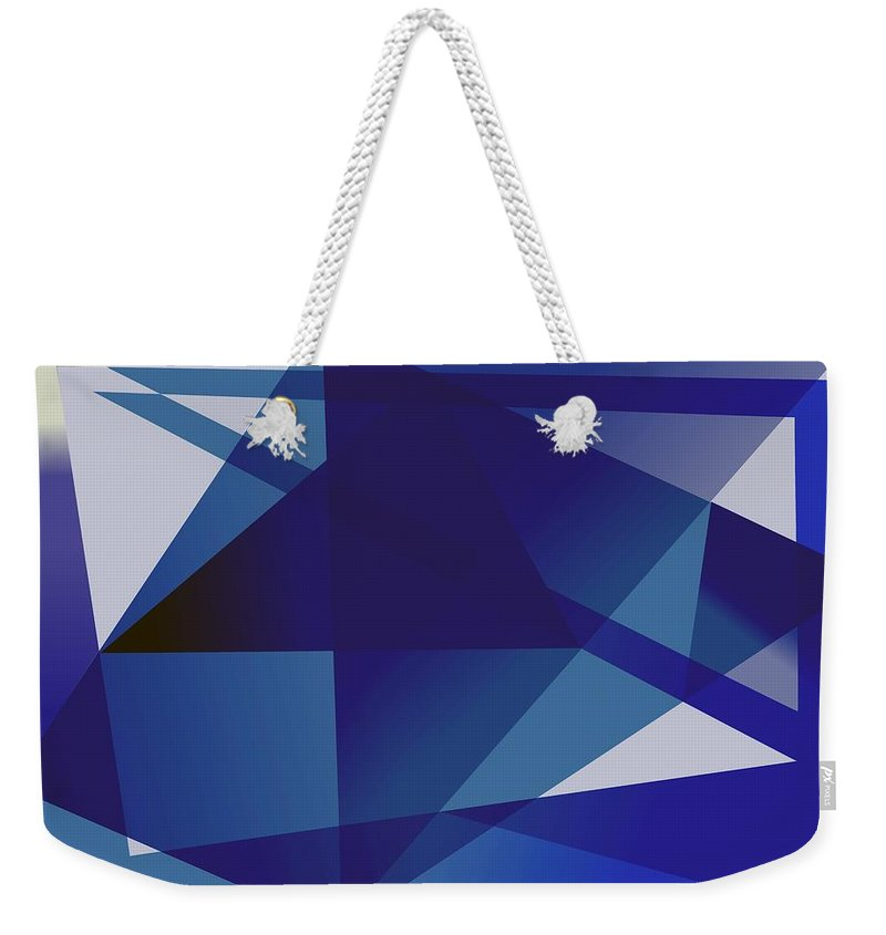 Blue Weekender Tote Bag featuring the digital art Blue In Blue by Helmut Rottler