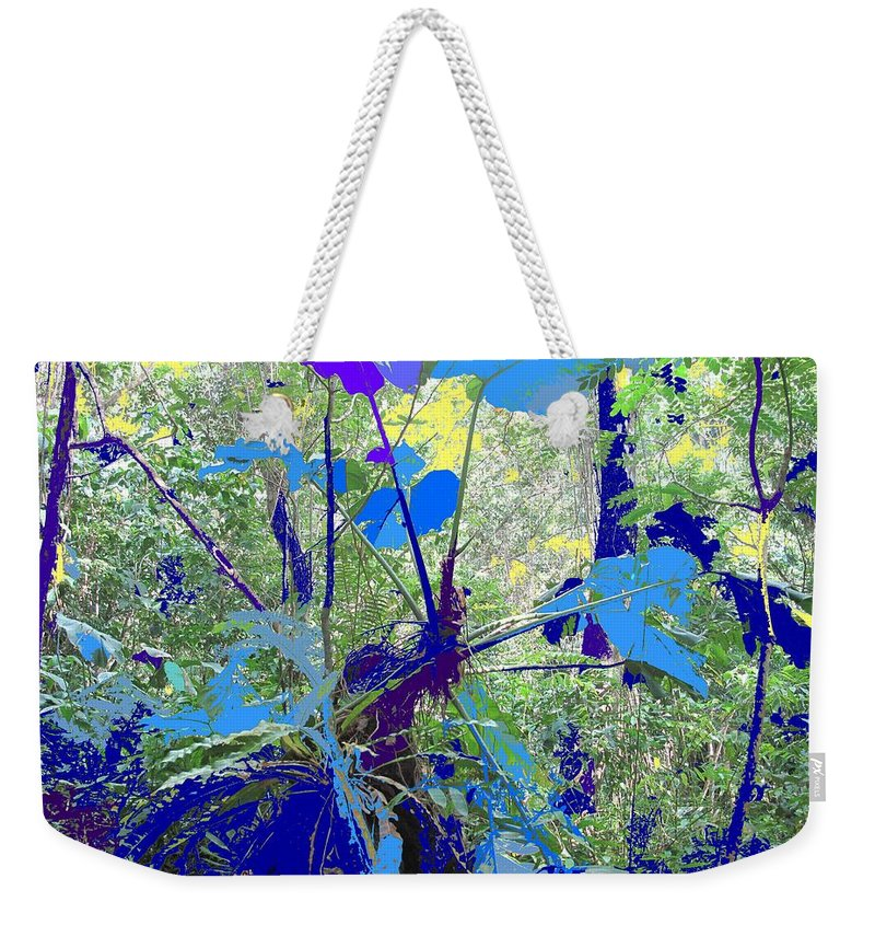 Weekender Tote Bag featuring the photograph Blue Jungle by Ian MacDonald