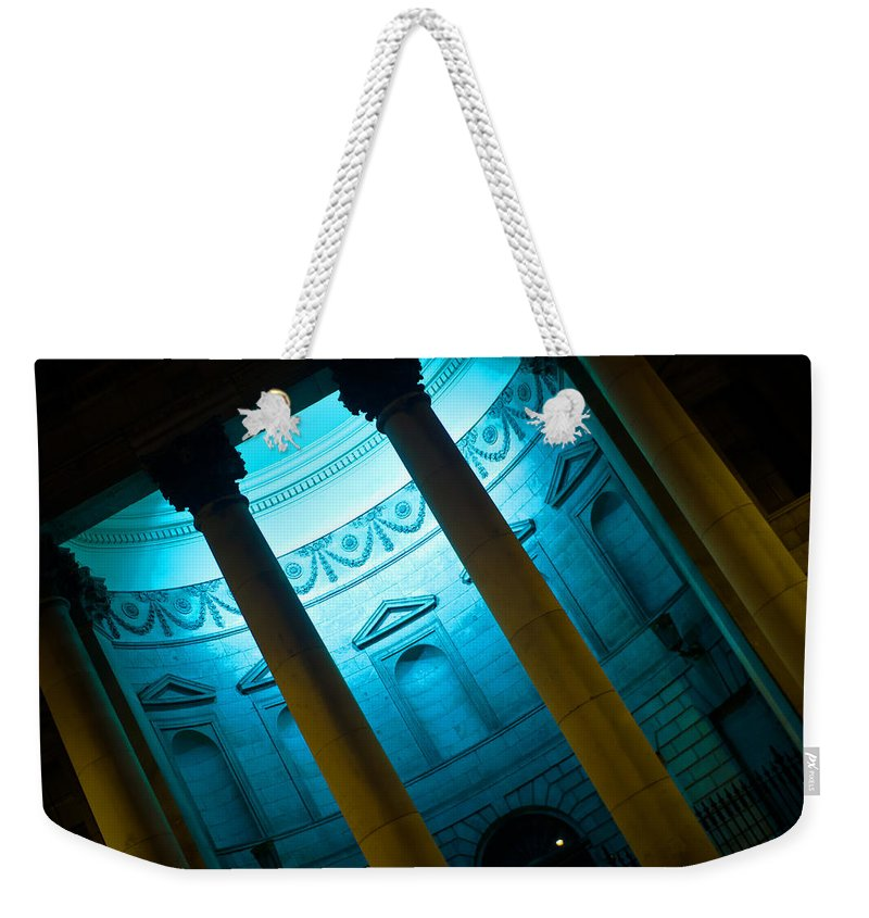 Blue Light Weekender Tote Bag featuring the photograph Blue Light by Alex Art and Photo