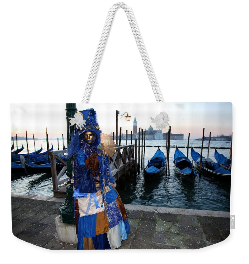 Venice Weekender Tote Bag featuring the photograph Blue Lips At Sunrise by Donna Corless