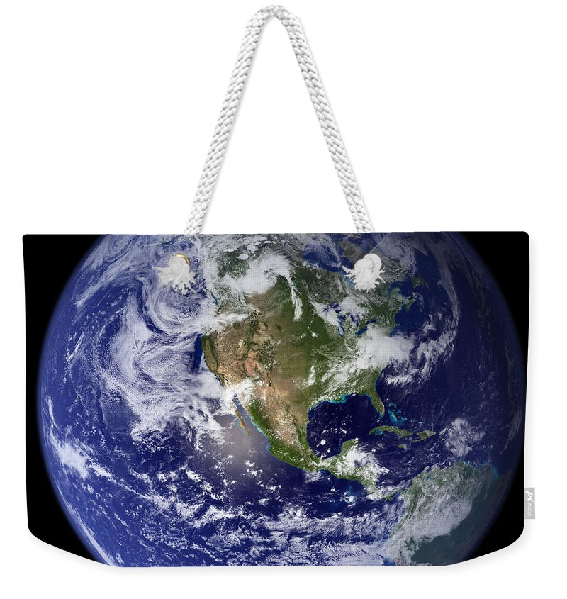 Earth Weekender Tote Bag featuring the photograph Blue Marble Earth, North America by Science Source
