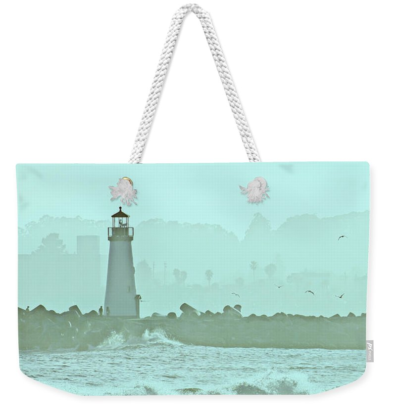 Blue Weekender Tote Bag featuring the photograph Blue Mist 1 by Marilyn Hunt