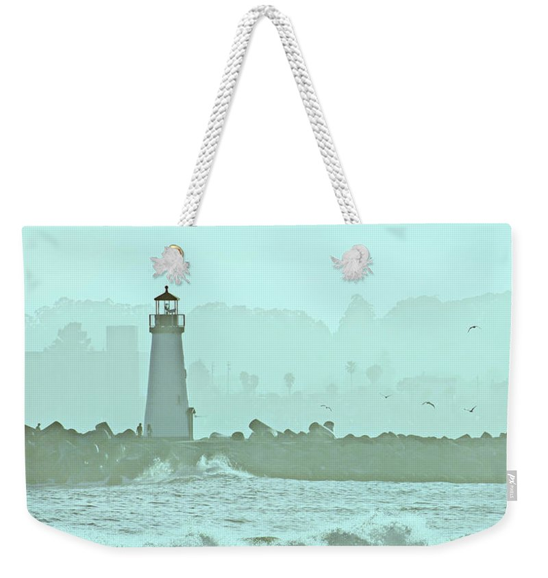 Blue Weekender Tote Bag featuring the photograph Blue Mist 3 by Marilyn Hunt