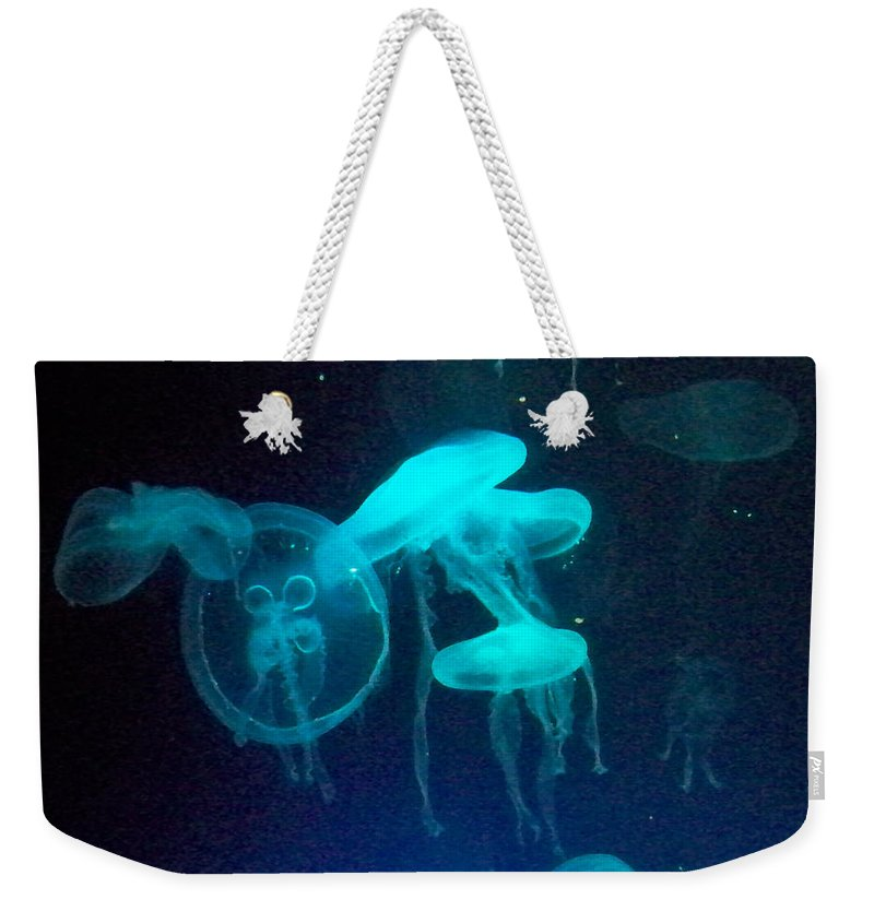 Florida Weekender Tote Bag featuring the photograph Blue Monsters by Chris Andruskiewicz