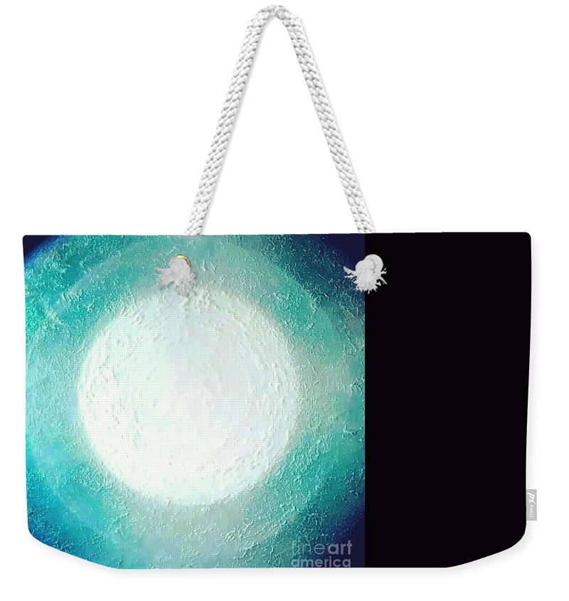 Moon Light Weekender Tote Bag featuring the painting Moon Light by Kumiko Mayer