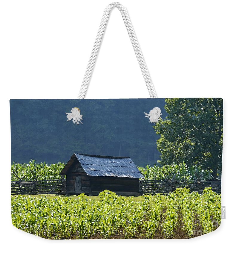 Farm Weekender Tote Bag featuring the photograph Blue Mountain Farm by David Lee Thompson