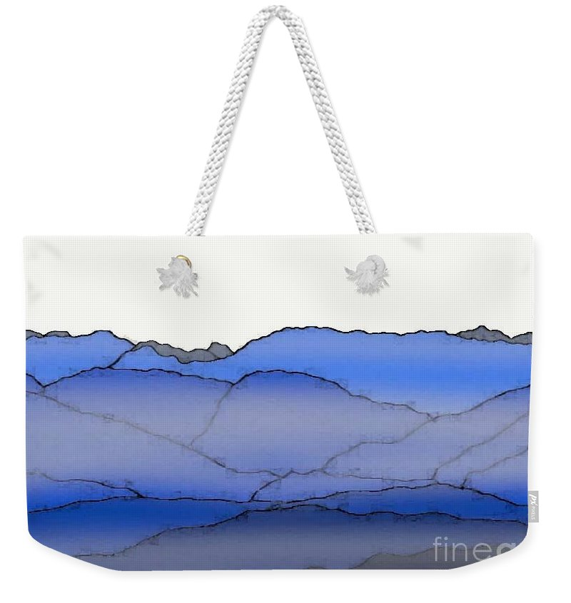Blue Mountain Fog Weekender Tote Bag featuring the painting Blue Mountain Fog by Priscilla Wolfe