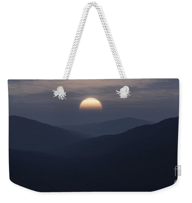 Mountains Weekender Tote Bag featuring the digital art Blue Mountains by Richard Rizzo