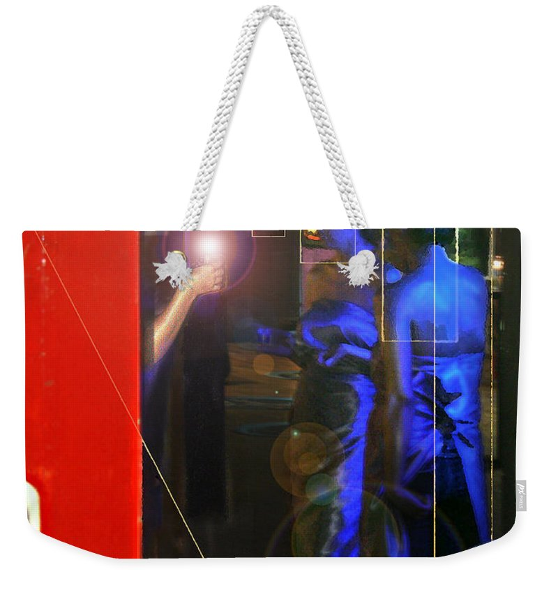 Female Figures Weekender Tote Bag featuring the photograph Blue Muses by Steve Karol
