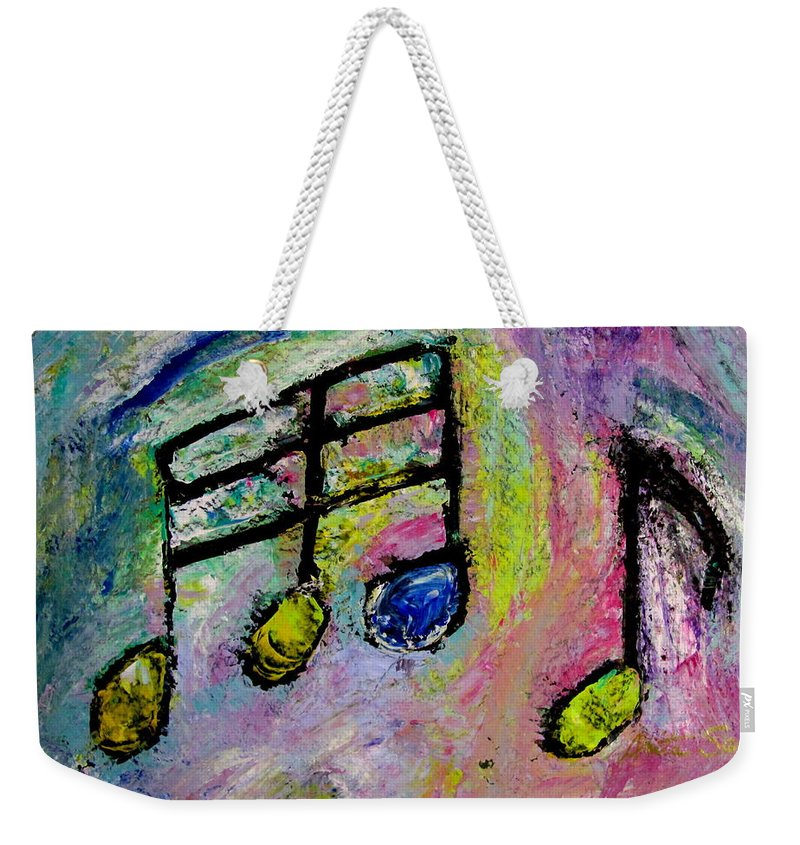 Impressionist Weekender Tote Bag featuring the painting Blue Note by Anita Burgermeister