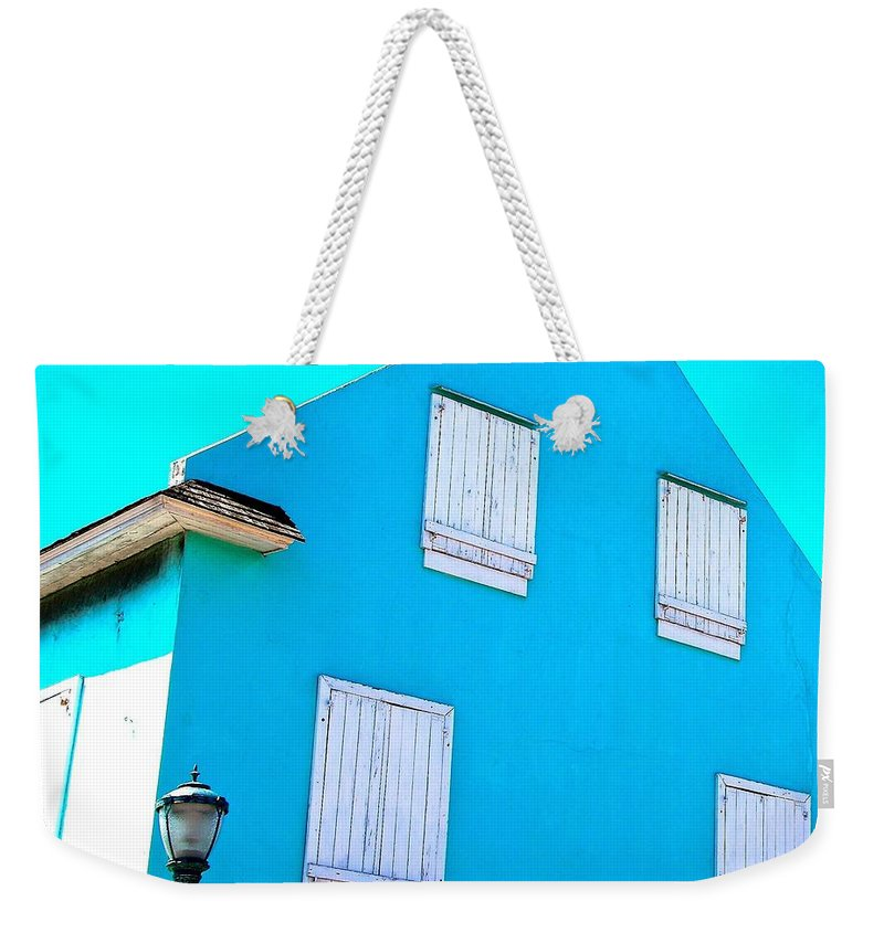 Bahamas Weekender Tote Bag featuring the photograph Blue On Blue by David Coleman