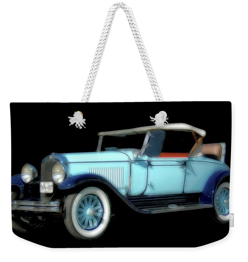 Automobiles Weekender Tote Bag featuring the photograph Blue On Blue by Keith Vanstone