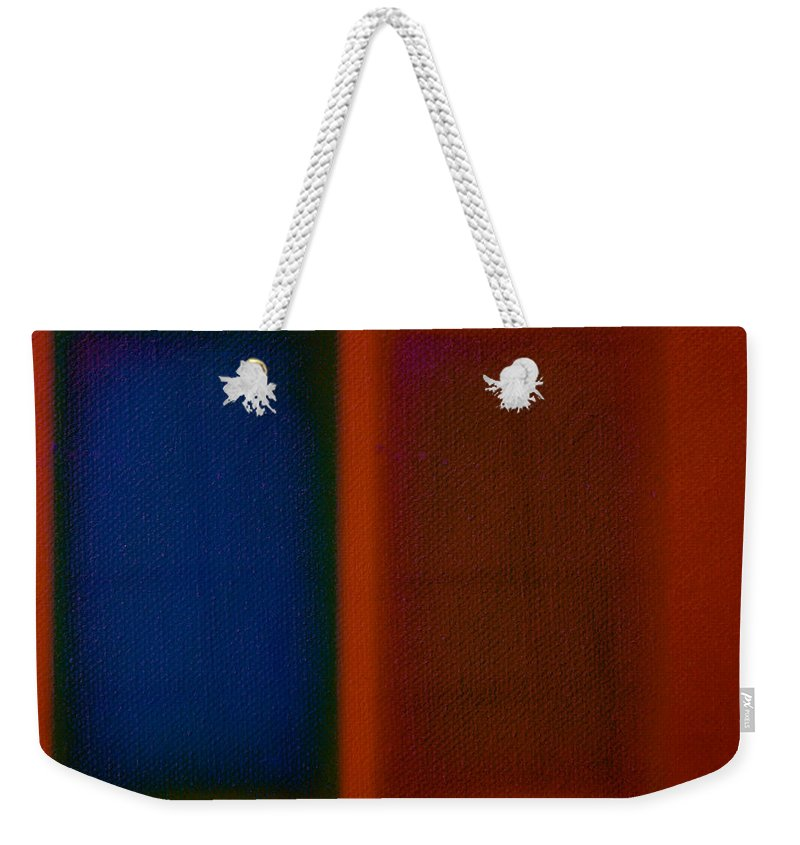 Rothko Weekender Tote Bag featuring the painting Blue On Orange by Charles Stuart
