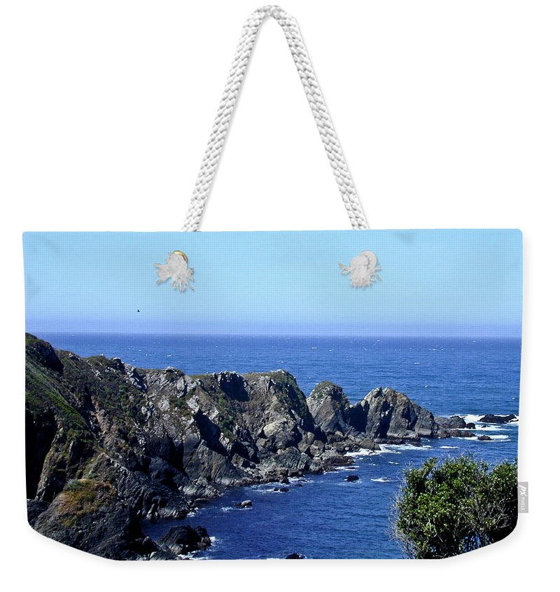 Blue Weekender Tote Bag featuring the photograph Blue Pacific by Douglas Barnett