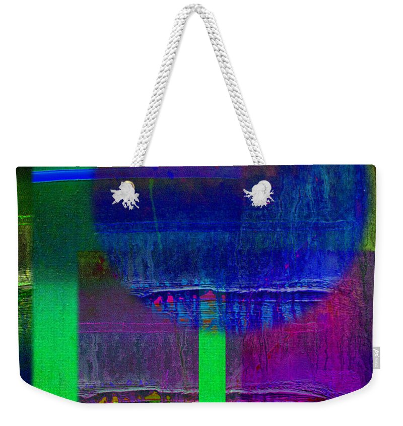 Landscape Weekender Tote Bag featuring the painting Blue Planet by Charles Stuart