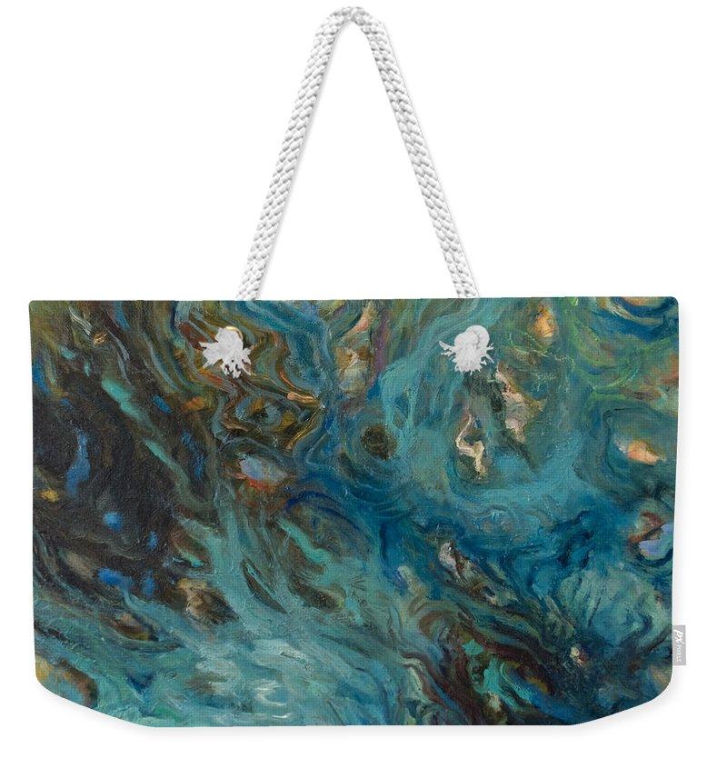 Marine Weekender Tote Bag featuring the painting Blue by Rick Nederlof