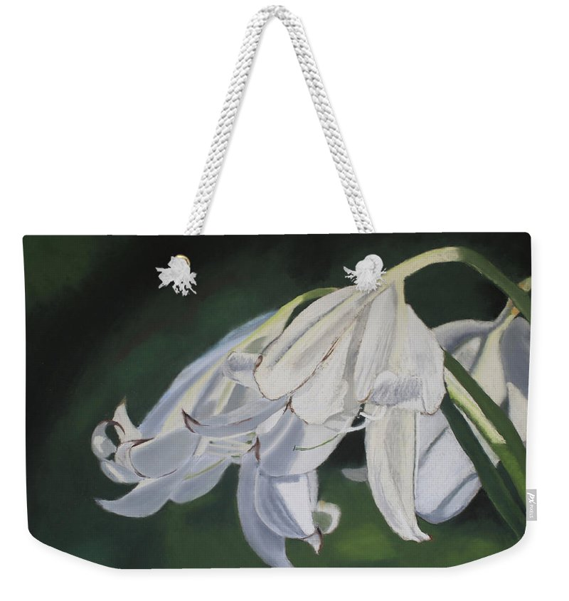 Flowers Weekender Tote Bag featuring the painting Blue Ridge Lilly by D Turner