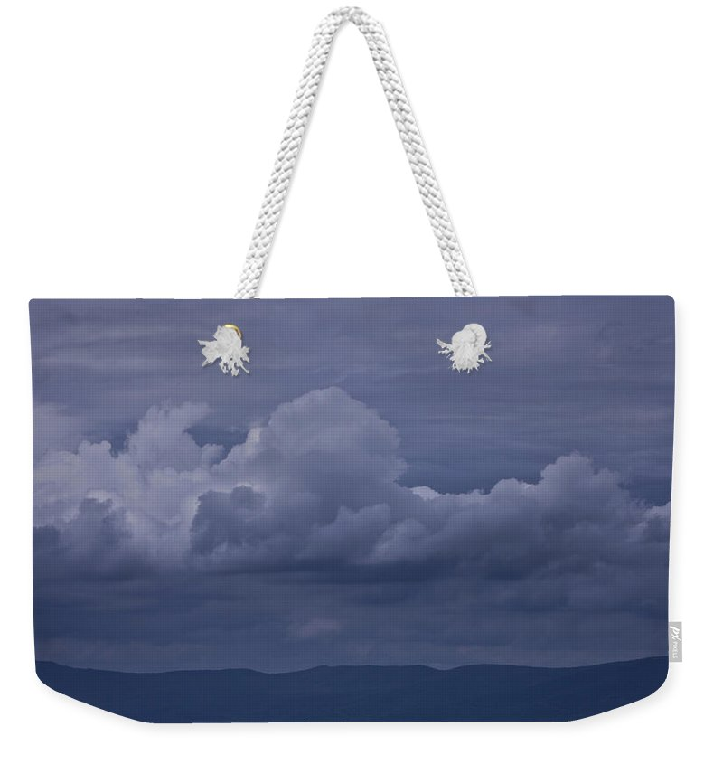 Storm Weekender Tote Bag featuring the photograph Blue Ridge Mountain Storm In Virginia by Teresa Mucha
