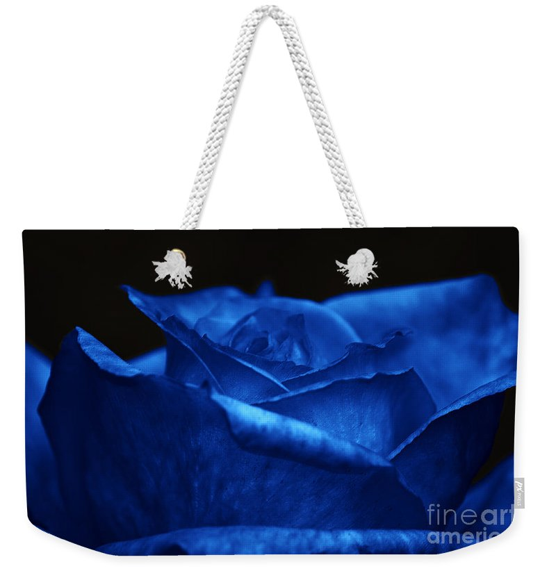 Clay Weekender Tote Bag featuring the photograph Blue Rose by Clayton Bruster